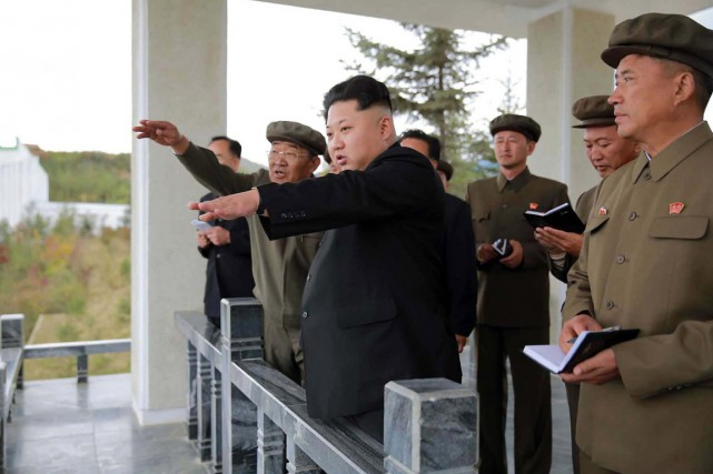 Le dictateur nord-coréen Kim Jong-Un à la mi-septembre... (Photo Korean Central News Agence/AFP)