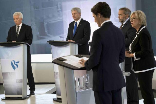Le débat des chefs de jeudi soir aura... (Adrian Wyld, La Presse Canadienne)