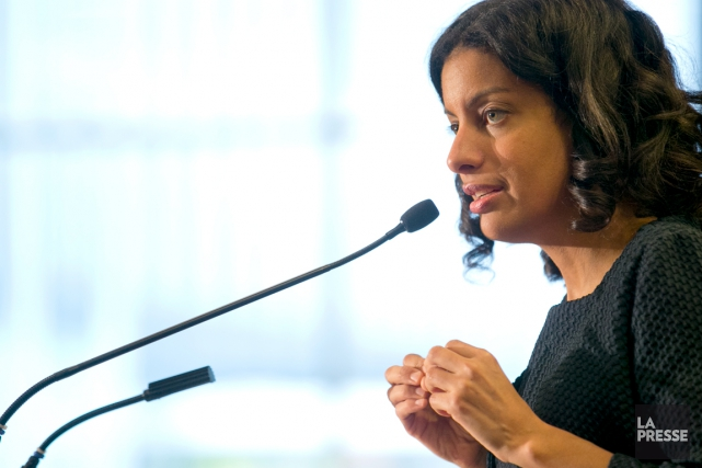 Dominique Anglade a été présidente de la CAQ... (PHOTO DAVID BOILY, ARCHIVES LA PRESSE)