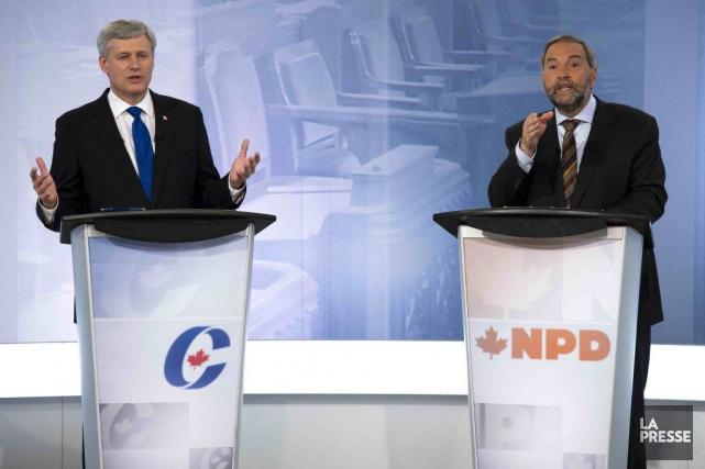 Thomas Mulcair a été trop agressif dès le... (Adrian Wyld, La Presse Canadienne)