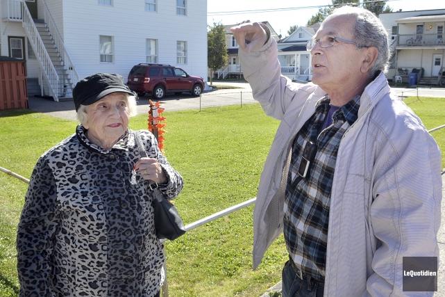 Marie-Claire Bouchard, 90 ans, réside au rez-de-chaussée de... (Photo Le Quotidien, Rocket Lavoie)