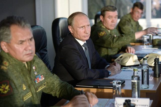 L'objectif déclaré de Vladimir Poutine, combattre le terrorisme... (PHOTO ALEXEI NIKOLSKY, ARCHIVES RIA-NOVOSTI/AP)