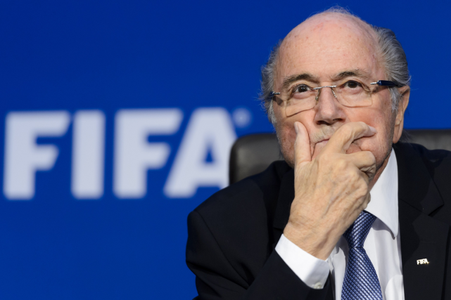 Le président de la FIFA, Sepp Blatter.... (Photo Fabrice Coffrini, archives AFP)