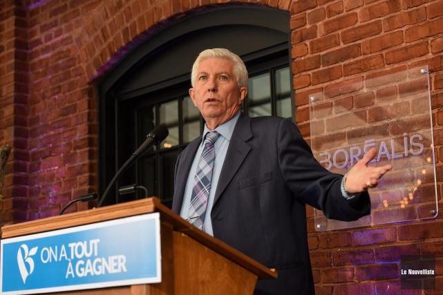 Le chef du Bloc québécois, Gilles Duceppe, livrant... (Photo: François Gervais Le Nouvelliste)