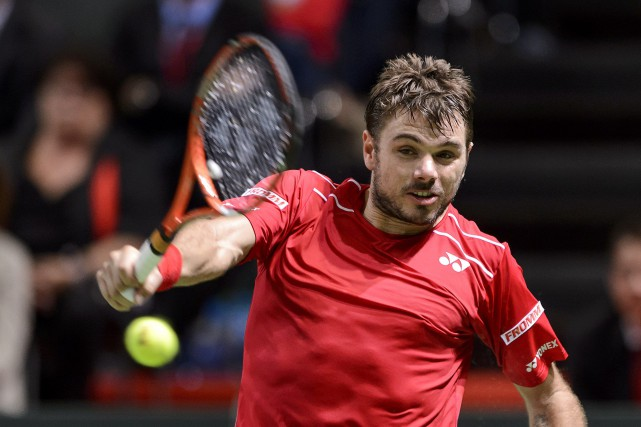Stanislas Wawrinka... (Photo FABRICE COFFRINI, AFP)