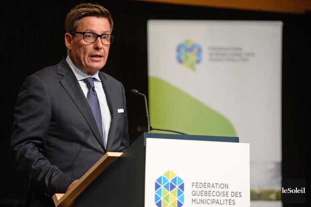 Le ministre des Affaires municipales, Pierre Moreau... (Photo Patrice Laroche, Le Soleil)