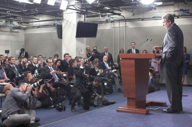 John Boehner a pris tout le monde par... (AP, Lauren Victoria Burke)