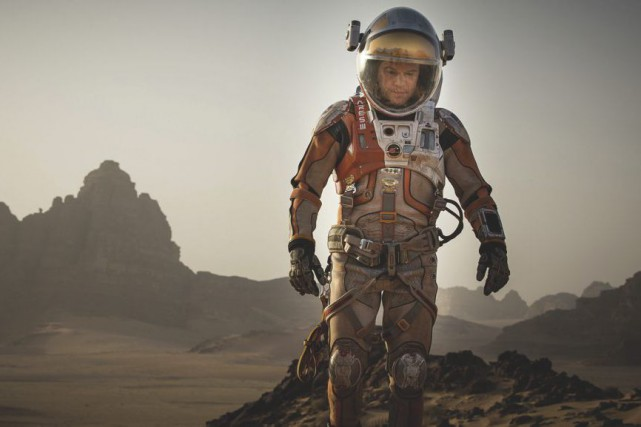 Matt Damon dans une scène de The Martian, de... (PHOTO FOURNIE PAR 20TH CENTURY FOX)