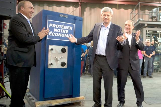De passage à Rivière-du-Loup, vendredi, le chef conservateur... (La Presse Canadienne)