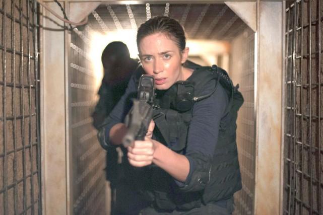Emily Blunt dans une scène deSicario... (PHOTO ARCHIVES AP)