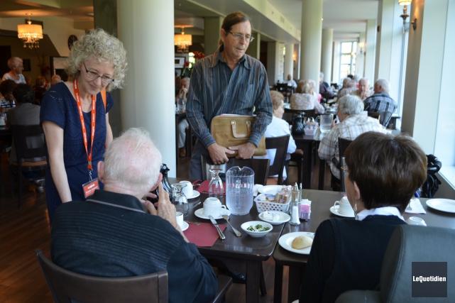 Gisèle Dallaire peut compter sur l'aide de l'ancien... (Photo Le Quotidien, Laura Lévesque)