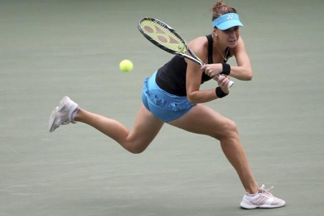 Belinda Bencic... (Photo Eugene Hoshiko, AP)