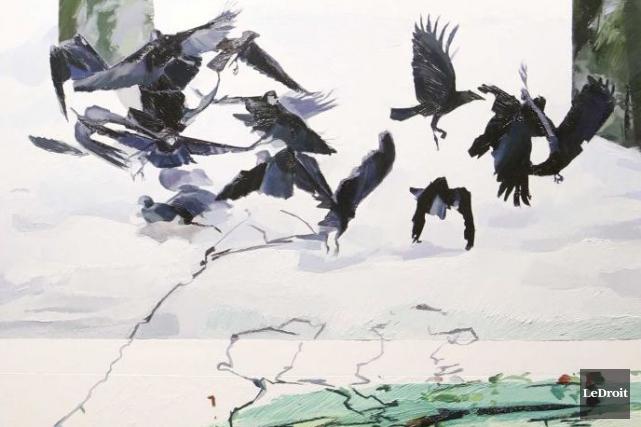 Avec l'exposition Catalyst, l'artiste-peintre Alyson Glenn n'a pas... (Simon Séguin-Bertrand, LeDroit)