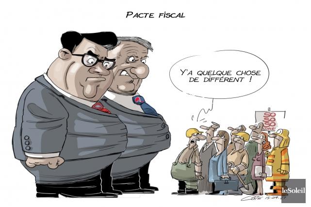 Caricature du 27 septembre 2015... (Le Soleil, André-Philippe Côté)