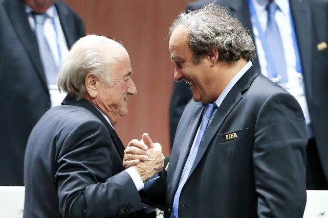 Joseph Blatter et Michel Platini... (Photo archives Reuters)