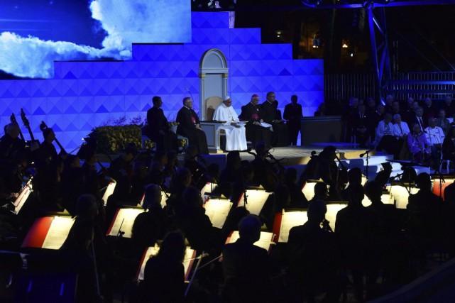 Le pape François était à Philadelphie samedi.... (VINCENZO PINTO)