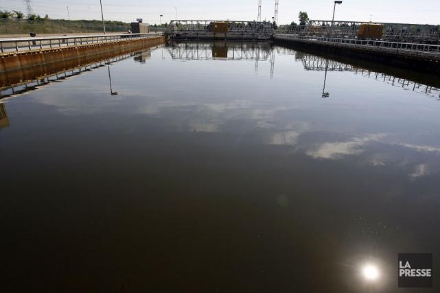 Une zone de prétraitement des eaux usées à... (Archives La Presse, François Roy)