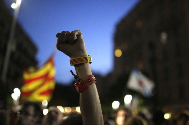 Un indépendantiste catalan... (Photo Emilio Morenatti, AP)