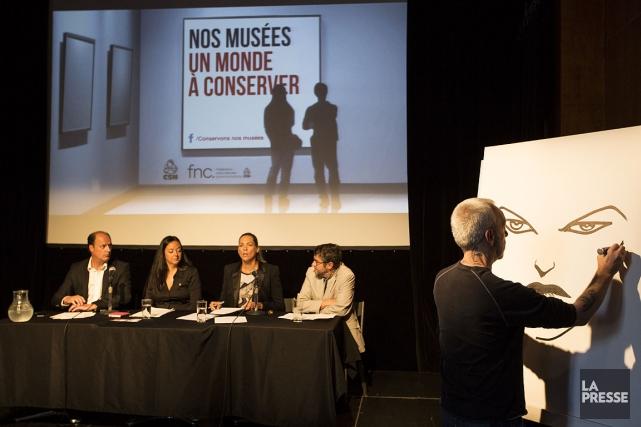 Lors d'un point de presse tenu à Montréal... (PHOTO OLIVIER PONTBRIAND LA PRESSE)