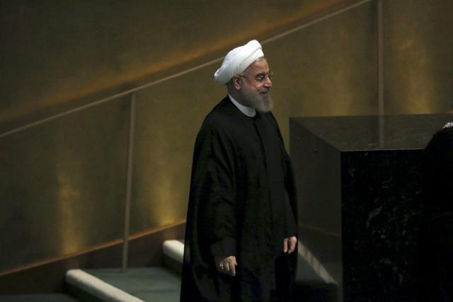 Le président iranien a prononcé un discours à... (PHOTO CARLO ALLEGRI, REUTERS)