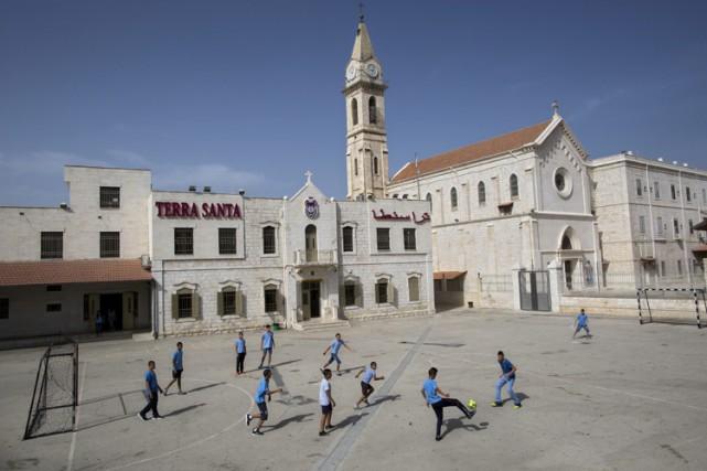 Les 33 000 élèves des 47 écoles chrétiennes d'Israël, en grève depuis le 1er... (PHOTO AP)