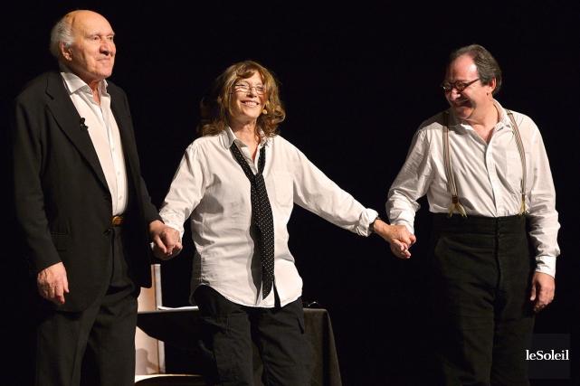 Birkin, Piccoli et Pierre se sont livrés à... (Le Soleil, Yan Doublet)