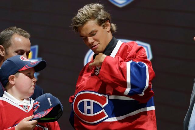 Le premier choix du Canadien au dernier repêchage,... (Photo Alan Diaz, archives AP)