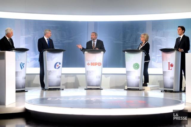 Ce débat des chefs en français en a été un pour Québécois et non pour les... (La Presse, Bernard Brault)