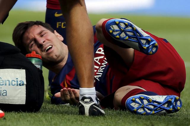 Lionel Messi a subiune rupture du ligament collatéral... (Photo Sergio Perez, Reuters)