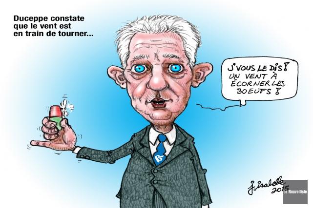Caricature du 26 septembre... (Jean Isabelle, Le Nouvelliste)