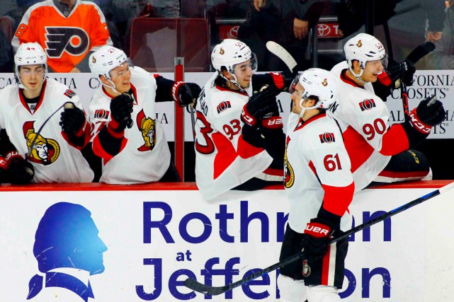 Mark Stone a enregistré 64 points l'an dernier,... (Archives, Associated Press)