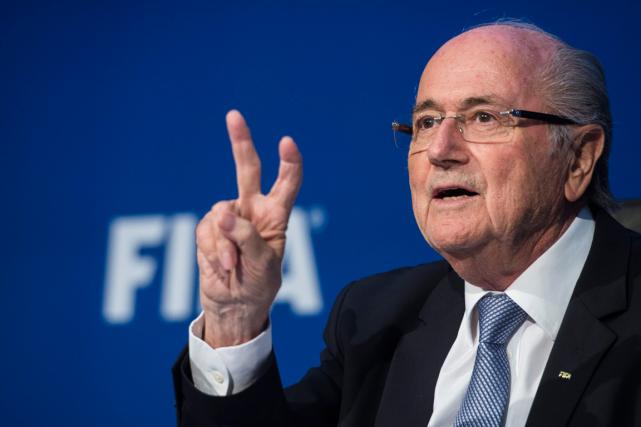 Le président démissionnairede la FIFA, Joseph Blatter.... (Photo Ennio Leanza, archives AP)