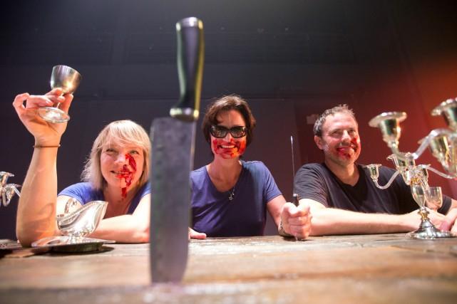 Dominique Quesnel, Angela Konrad et Philippe Cousineau présentent... (PHOTO PATRICK SANFAÇON, archives LA PRESSE)