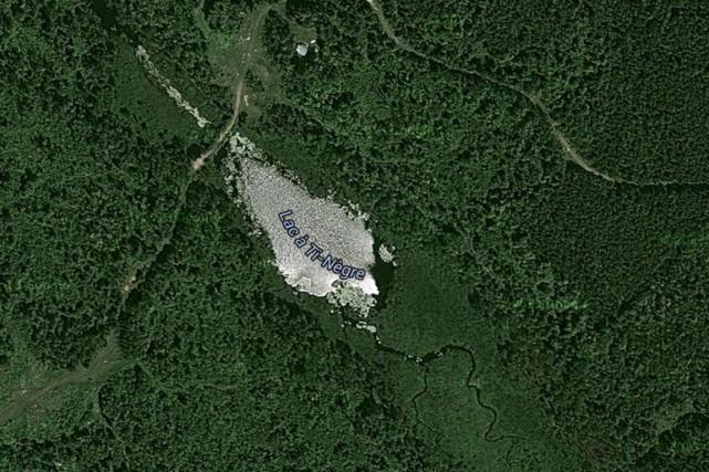 Le lac Ti-Nègre doit être rebaptisé.... (Google Maps)