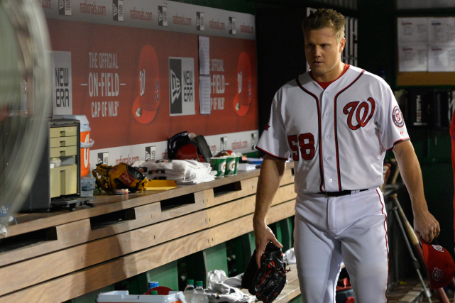 Jonathan Papelbon a sauté à la gorge de son... (Photo Tommy Gilligan, archives USA Today)