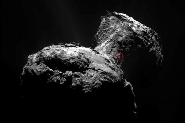 La forme de Tchouri est le résultat d'un... (Photo archives Agence France-Presse/Agence spatiale européenne)