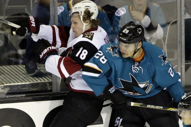 Timo Meier... (Photo Marcio Jose Sanchez, AP)
