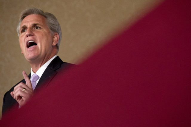 Kevin McCarthy, qui est le bras droit duprésident... (PHOTO JACQUELYN MARTIN, AP)