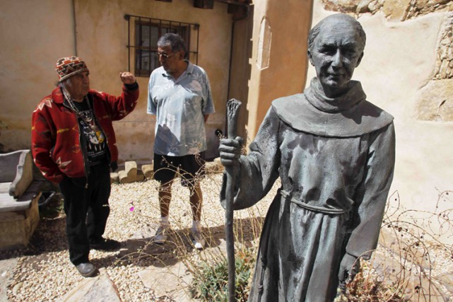 La canonisation de Junipero Serra par le pape avait... (PHOTO REUTERS)