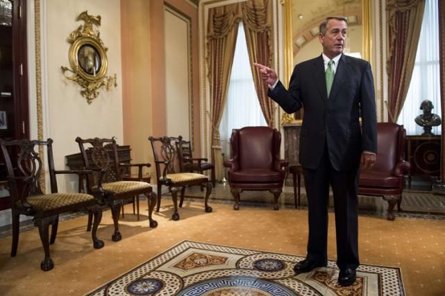 Le président sortant de la Chambre des représentantsJohn... (PHOTO AFP)
