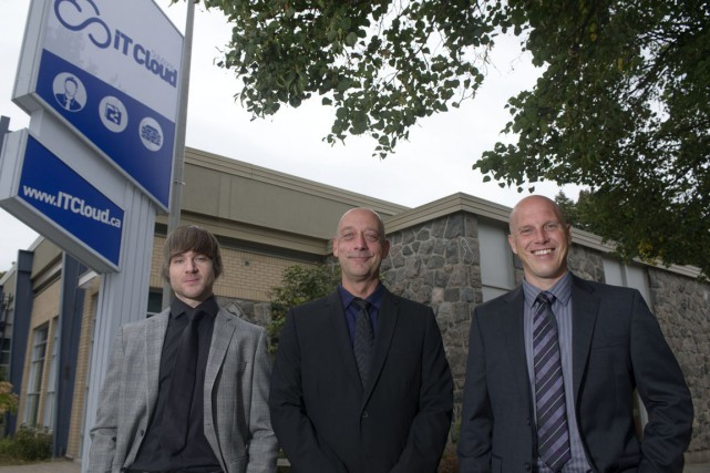 Les trois associés de l'entreprise IT Cloud Solutions,... (Photo: Stéphane Lessard)