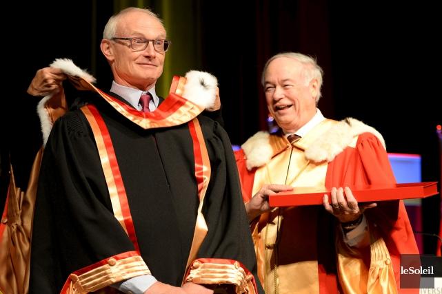 Le recteur de l'Université Laval, Denis Brière (à... (Le Soleil, Erick Labbé)