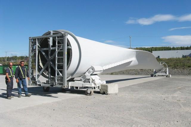 Les pales fabriquées par LM Wind Power mesurent... (Collaboration spéciale Geneviève Gélinas)