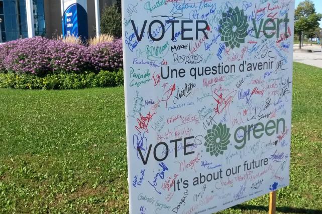 Le candidat du Parti vert dans Gatineau, Guy Dostaler, a décidé de faire sa... (Courtoisie)