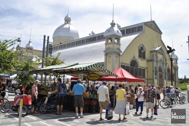 Le marché du square Aberdeen.... (Photo Laila Maalouf, La Presse)