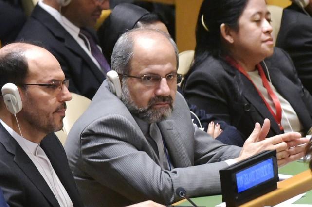 Le ministre iranien des Affaires étrangères Mohammad Javad... (PHOTO MANDEL NGAN, AFP)