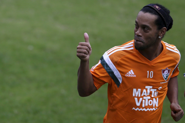 Ronaldinho... (Photo Ricardo Moraes, archives Reuters)