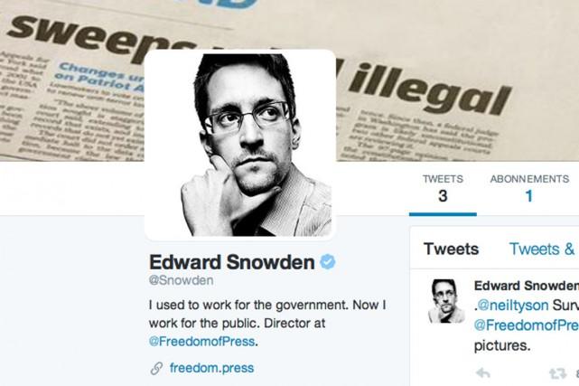 Edward Snowden est désormais sur Twitter.... (IMAGE TIRÉE DE TWITTER)