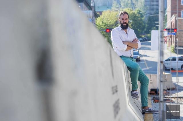 Mathieu K. Blais vient de lancer Tabloïd, un... (IMACOM, FRÉDÉRIC CÔTÉ)