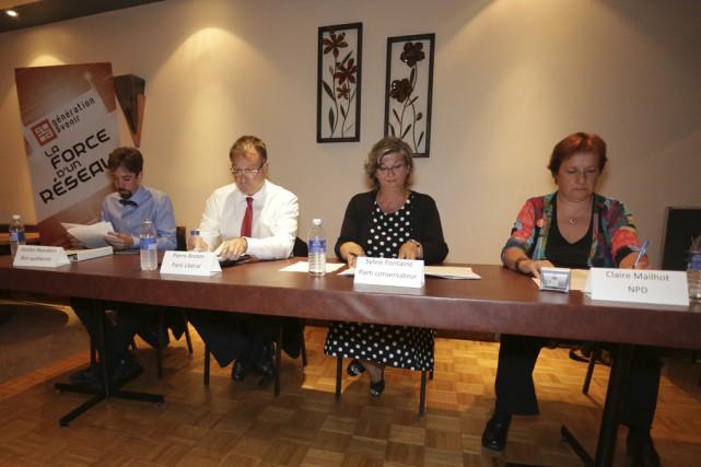 Jocelyn Beaudoin (Bloc québécois), Pierre Breton (Parti libéral... (photo Catherine Trudeau)